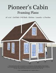 The Pioneer    s Cabin   x Tiny House Plans   Tiny House Design