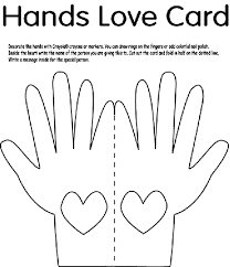 Small Picture Hands Love Card Coloring Page crayolacom
