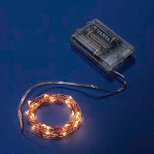 Resultado de imagen de luz led cálida a pilas cable dorado