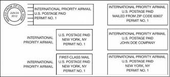 international mailing address format imm revision permit imprint indicias