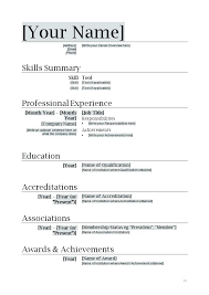 Simple Resume Format Simple Format For Resume Easy Resume Template