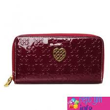 Cepsym Red Coach Waverly Hearts Accordion Zip Large Wallets