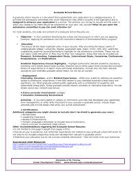 Sample Resume For Graduate School Application Sample Resume Graduate School Cv For Graduate School Application 8