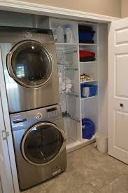Awesome Laundry Room Ideas Stacked Washer Dryer With Stackable Washer And  Dryer Decorating Ideas For Elegant Laundry Room