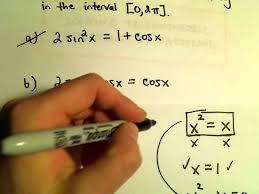 factoring trigonometric equations
