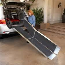handicap ramps for minivans. setting up the multifold wheelchair ramp on a mini van handicap ramps for minivans r