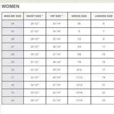 Womens Jeans Size Chart 68 Unfolded Jean Conversion Size Chart