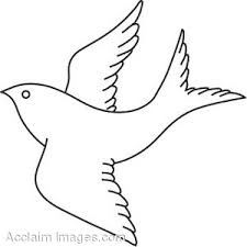Small Picture Coloring Page of a Bird in Flight Clip Art
