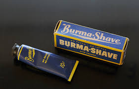 Image result for burma shave