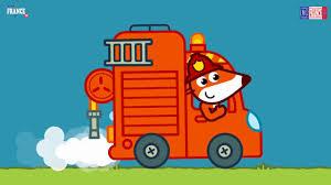 Camion De Pompier Renard Dessin Anim Pompier Dessin Anime