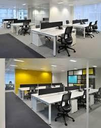 open office ceiling decoration idea. White Work Surface For Open Plan Office! #openplanoffice Cubicles.com · Office DesignOffice DesignsOffice Ceiling Decoration Idea