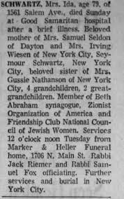 Obituary for Ida SCHWARTZ (Aged 79) - Newspapers.com
