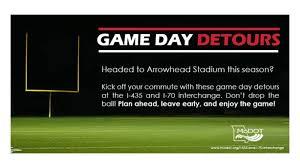 Game Day Traffic Detours Chiefs Radio Network Kccrn