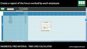 Employee Time Card Calculator Time Card Calculator Excel Free Spreadsheet Enginexcel