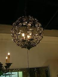 crystal bud aged gold sphere chandelier