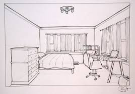 bedroom drawing one point perspective. Modren Perspective Objective Create A One Point Perspective Drawing Of Your Bedroom That  Demonstrates Understanding And Use Proper Tools To Bedroom Drawing One Point Perspective P