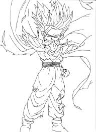 Coloriage Gohan Ssj Page Sketch Coloring View Larger Image Credit