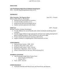 High School Resume No Work Experience Elegant Sample Resume With No