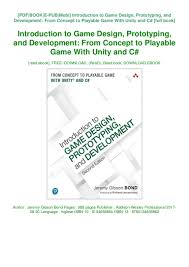 Introduction To Game Design Prototyping And Development Pdf Free Download Read_ Pdf Introduction To Game Design Prototyping And