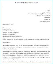 Teacher Cover Letter Example Incredible Substitute Teacher Cover Letter To Create Your