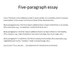 example of a five paragraph essay essay on food the five paragraph essay ppt video online how