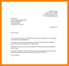 Two Week Resignation Letter Custom Resignation Letter 48 Week Notice Email Leaving Job 48 Sample Simple 48