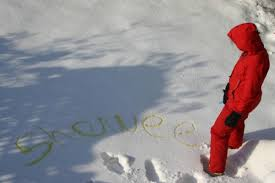 Write your name in the snow