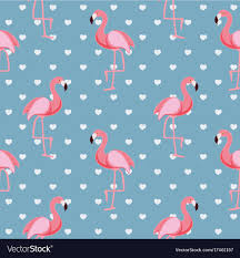 Flamingo Pattern Awesome Cute Retro Seamless Flamingo Pattern Background Vector Image