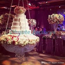 round d60 crystal chandelier cake stand hanging with crystal beaded cake table for wedding decoration party banners party banners and balloons from