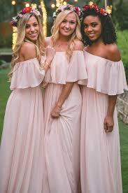 Light Pink Bridesmaid Dresses Long Light Pink Bridesmaid Dresses Off The Shoulder Long Pink