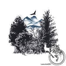 Lancelotz01 Forest Trees Tattoo Design Halfsleeve Forearm My