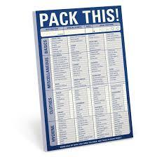 Knock Knock® Pack This! Checklist Notepad | Knockknockstuff.com