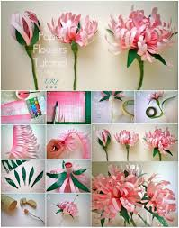 Paper Art Flower Pretty Diy Paper Flowers To Make For Home
