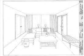 Living Point Interior Design Bedroom Sketches One Perspective Room Drawing  Life Of A