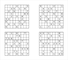 Prinable Sudoku Templates 15 Free Word Pdf Documents Download