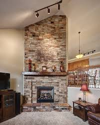 inspiration stone fireplace idea veneer that will warm up your home autumn blend add rustic charm