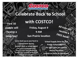 Costco Sun Prairie Celebrate Back To School With Costco Monona East Side