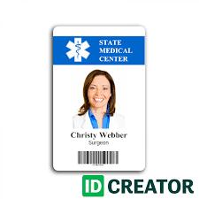 Hospital Employee Card From Idcreator Com