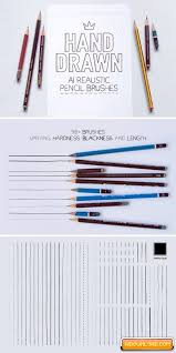 Illustrator Realistic Pencil Brushes Free Download Free Graphic