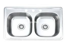 stainless steel drop in kitchen sink staless kraus 18 gauge double basin drop in stainless steel