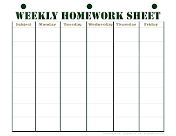 Student Daily Planner With Subjects Y Planner Template Assignment Sheet Homework Checklist Free Calendar