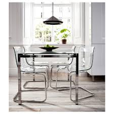 Furniture Lucite Dining Chairs For Modern Dining Room Decoration