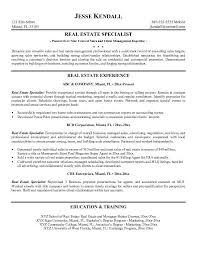 Entry Level Real Estate Agent Resume Real Estate Resume Templates