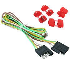 48 trailer light wire 4 way flat extension wiring harness plug cord rv boat car econosuper