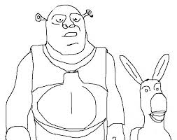Small Picture Cartoon Character Coloring Pages Shrek And Donkey Art Class