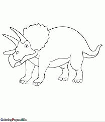 Coloring Books Dinosaur Triceratops Coloring Pages Isolated