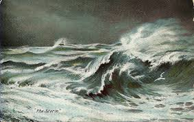Image result for st peter's barque storm  sea