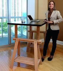 trestle office desk. Diy Home Office Desk Hack An Trestle Into Adjustable Standing Depot