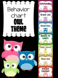 Owl Behavior Clip Chart Behavior Chart Owl Theme Behavior Clip Chart Bright Solids