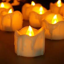 Long Lasting Amber Tea Lights Set Of 24 Unscented Candles